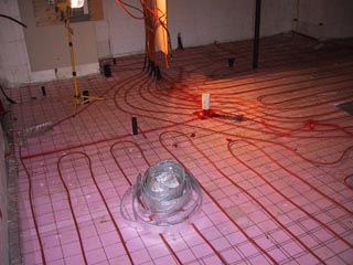 In floor heating house building blog for Insulating basement floor before pouring