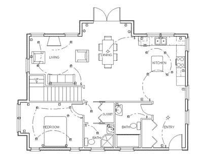 Make your own blueprint how to draw floor plans for How to draw your own house plans