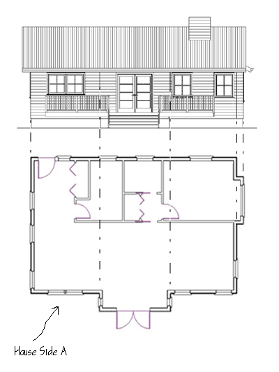 Building Elevation With Plan : How to draw elevations