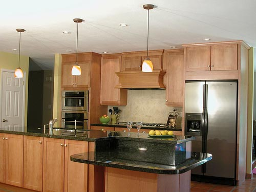Kitchen island designs for Kitchen design one wall